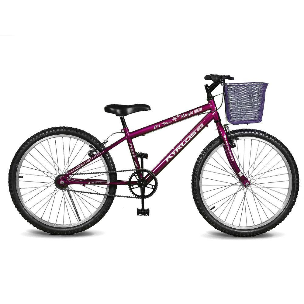 Bicicleta Kyklos Aro 24 Magie Sem Marchas Violeta