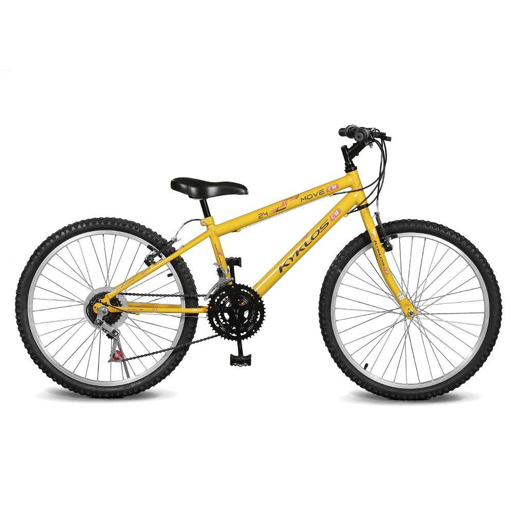 Bicicleta Kyklos Aro 24 Move 21V Amarelo