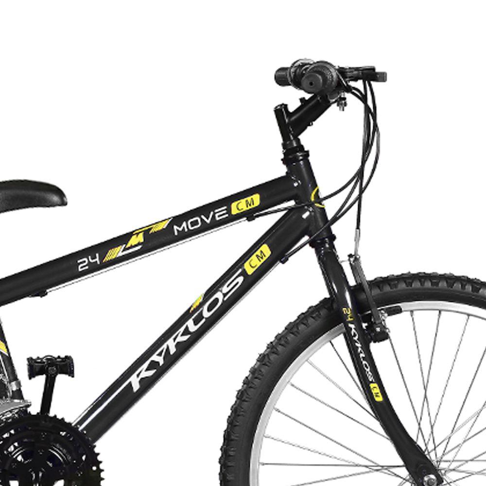 Bicicleta Kyklos Aro 24 Move 21V Preto
