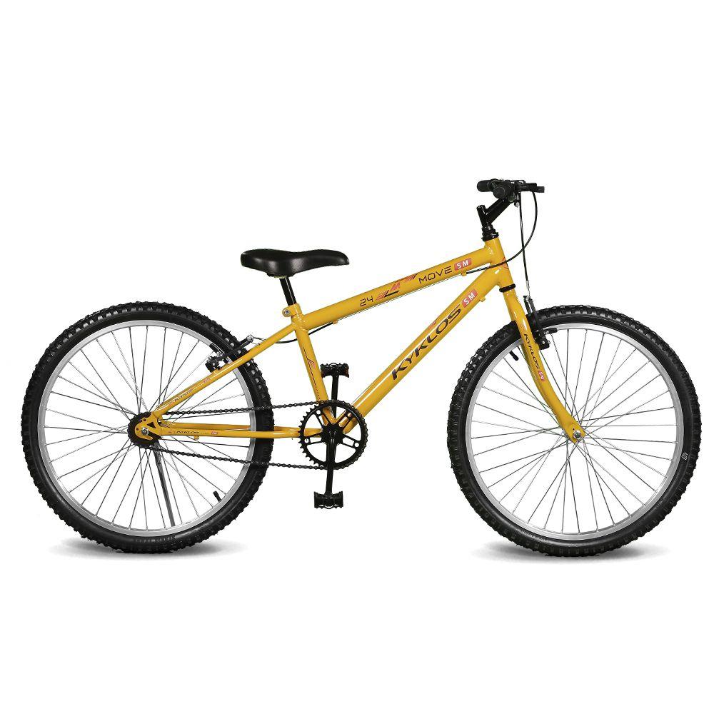 Bicicleta Kyklos Aro 24 Move Sem Marchas Amarelo