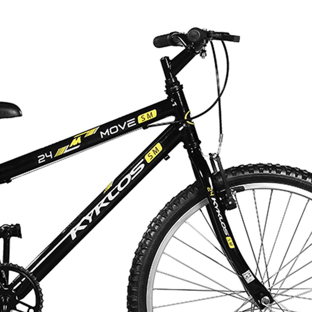 Bicicleta Kyklos Aro 24 Move Sem Marchas Preto