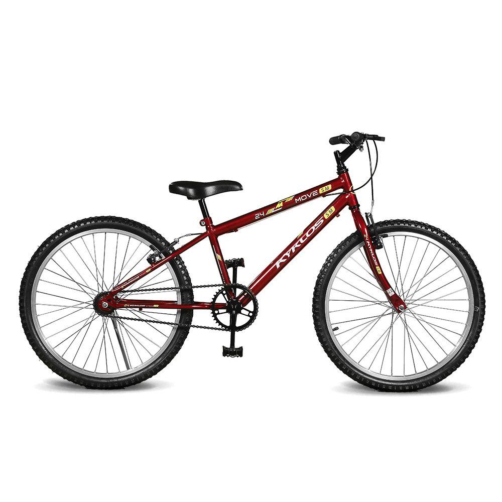 Bicicleta Kyklos Aro 24 Move Sem Marchas Vermelho