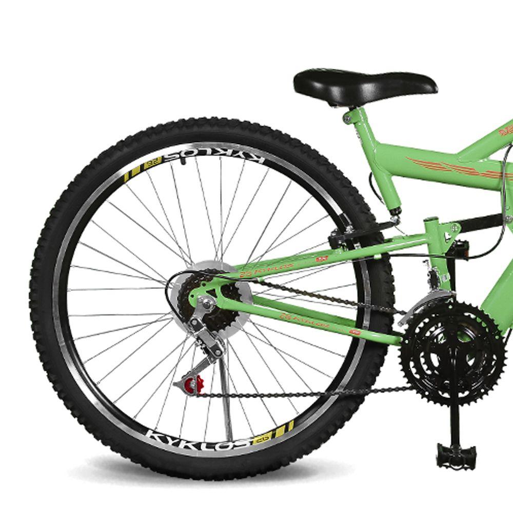 Bicicleta Kyklos Aro 26 caballu 7.4 Rebaixada 21V A-36 Verde