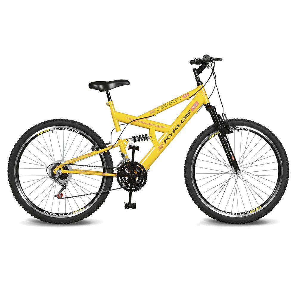 Bicicleta Kyklos Aro 26 Caballu 7.5 21V A-36 Amarelo