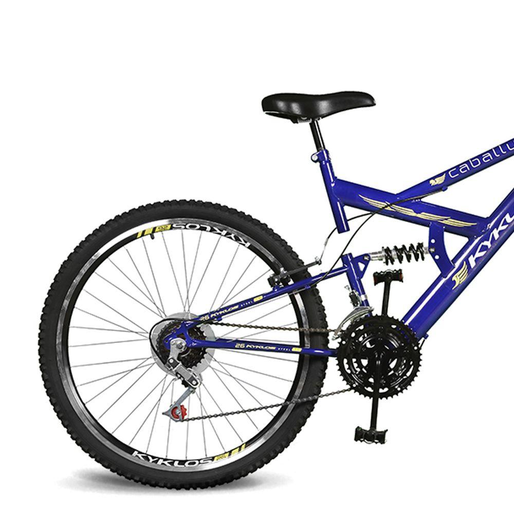 Bicicleta Kyklos Aro 26 Caballu 7.5 21V A-36 Azul