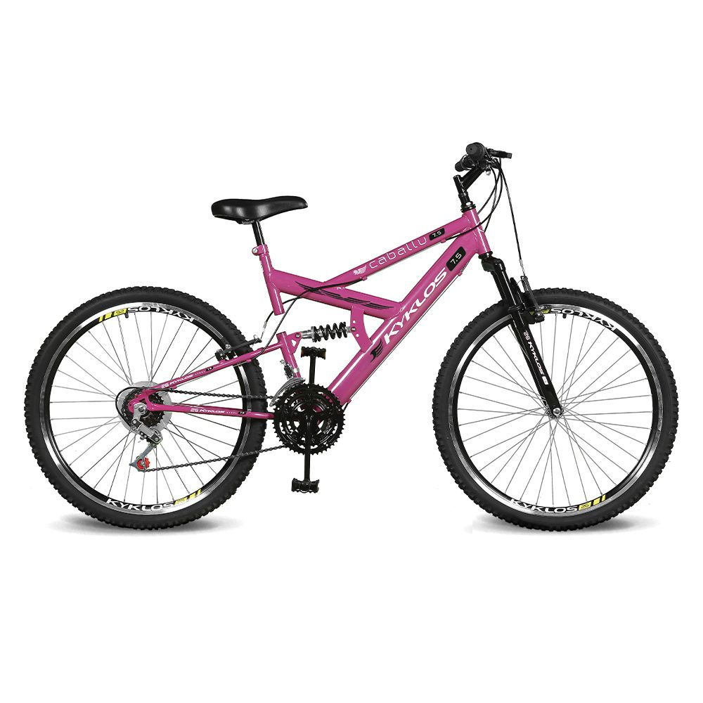 Bicicleta Kyklos Aro 26 Caballu 7.5 21V A-36 Pink