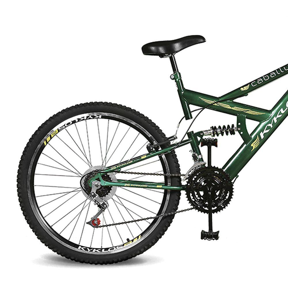 Bicicleta Kyklos Aro 26 Caballu 7.5 21V A-36 Verde Bandeira