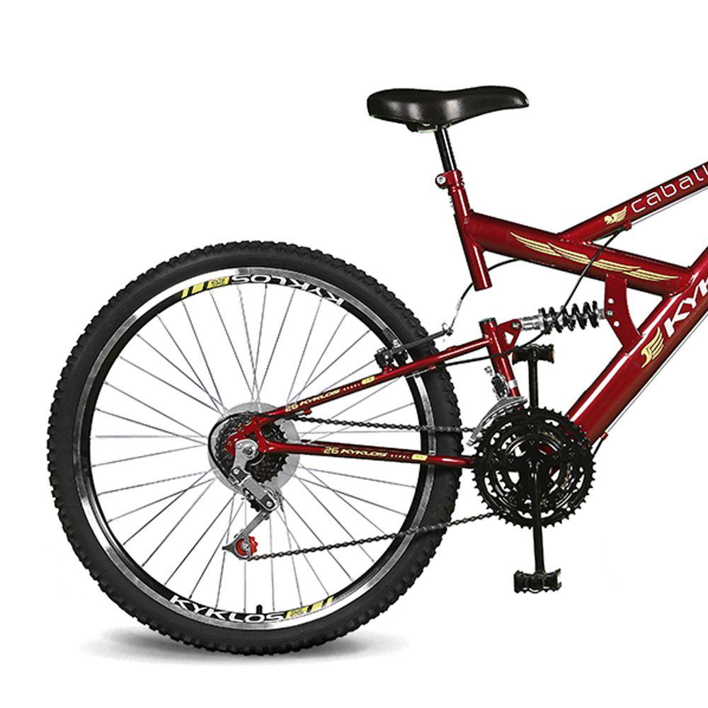 Bicicleta Kyklos Aro 26 Caballu 7.5 21V A-36 Vermelho
