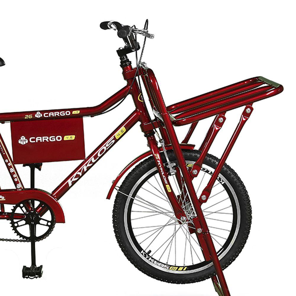 Bicicleta Kyklos Aro 26 Cargo 4.5 Freio Manual A-36 Vermelho