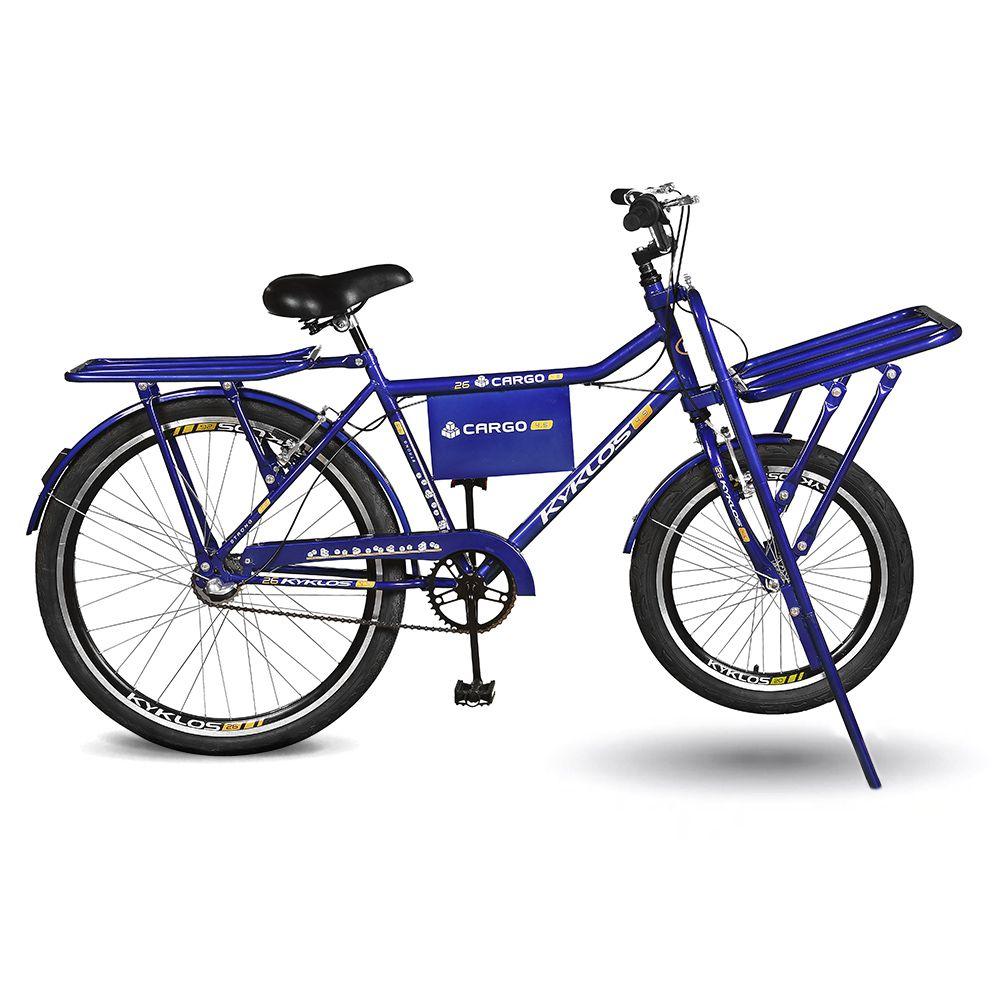 Bicicleta Kyklos Aro 26 Cargo 4.9 A-36 Reforçado 3V Nexus Freio V-Brake Azul