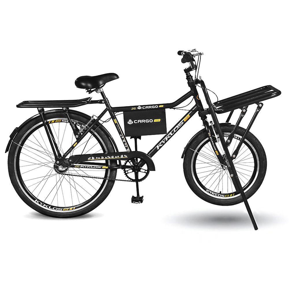Bicicleta Kyklos Aro 26 Cargo 4.9 A-36 Reforçado 3V Nexus Freio V-Brake Preto