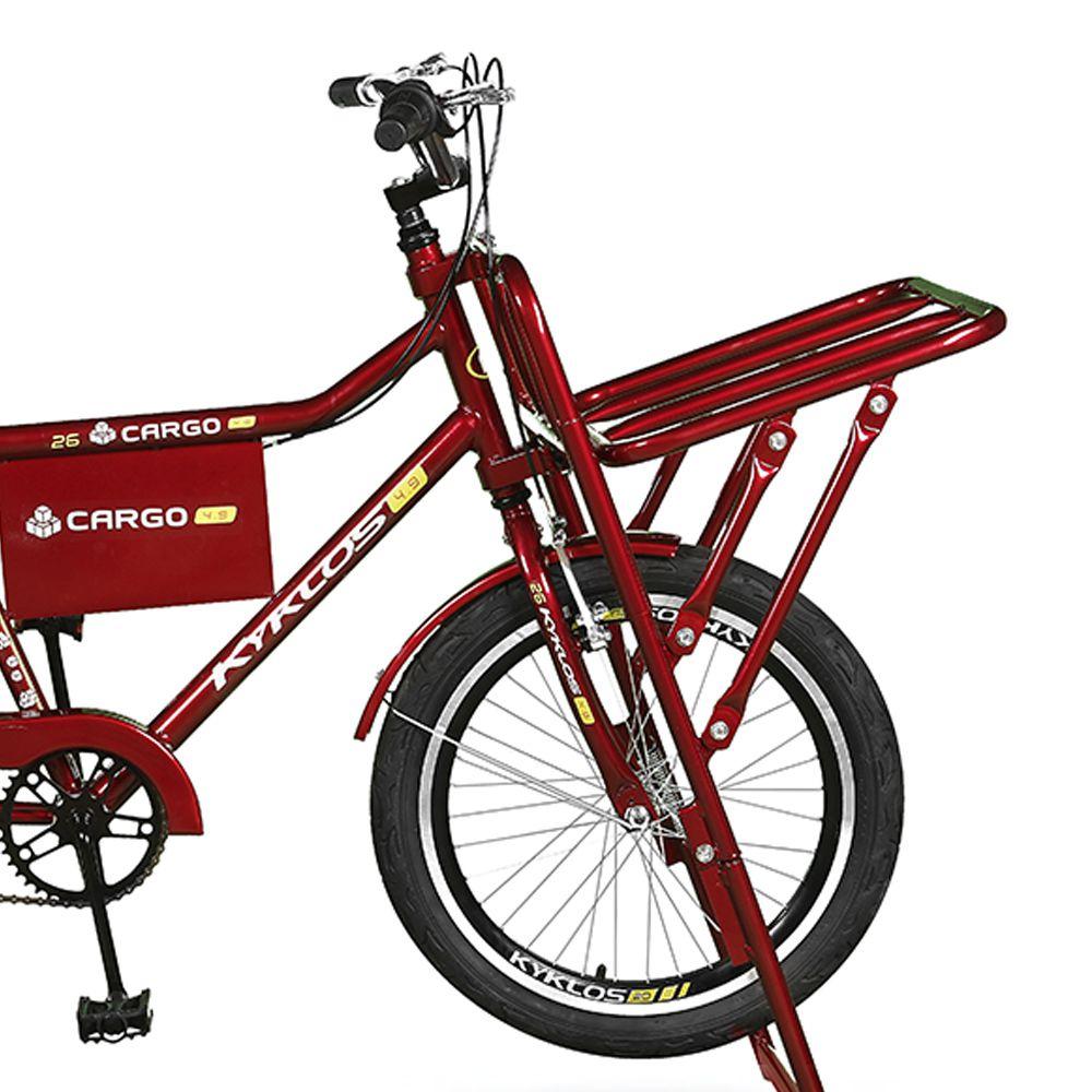 Bicicleta Kyklos Aro 26 Cargo 4.9 A-36 Reforçado 3V Nexus Freio V-Brake Vermelho