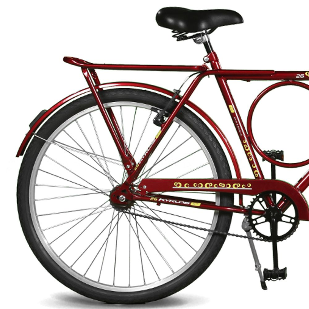 Bicicleta Kyklos Aro 26 Circular 5.7 Freio Manual Vermelho