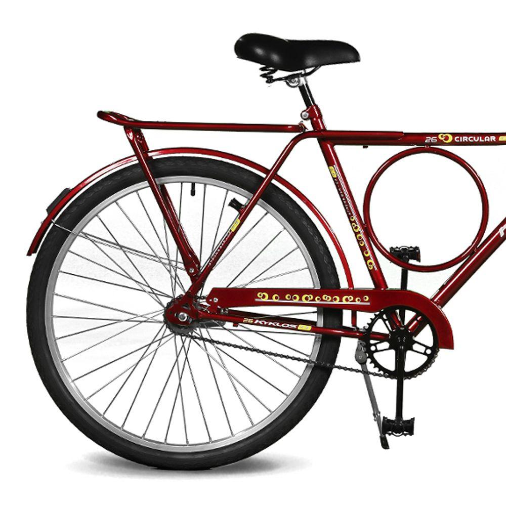 Bicicleta Kyklos Aro 26 Circular 5.9 Contrapedal Vermelho