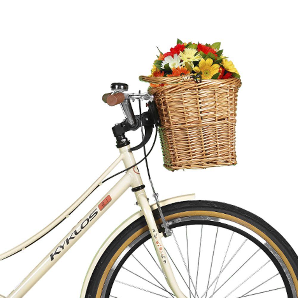 Bicicleta Kyklos Aro 26 Jolie 2.1 com Bagageiro Bege