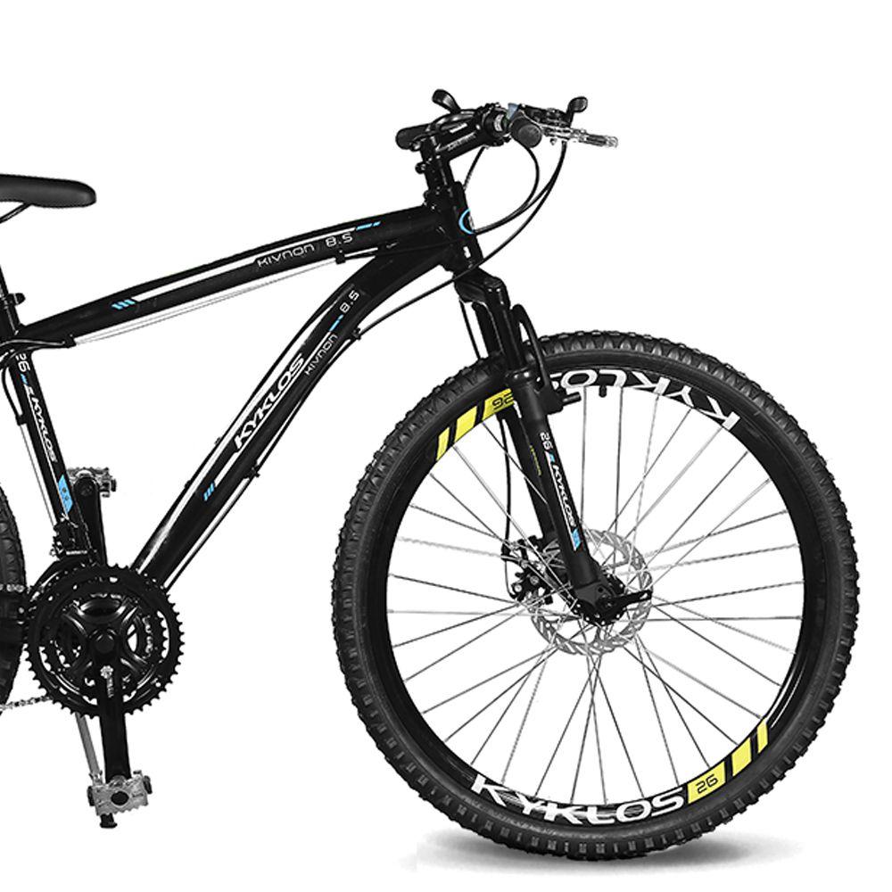 Bicicleta Kyklos Aro 26 Kivnon 8.5 Freio a Disco A-36 Preto/Azul