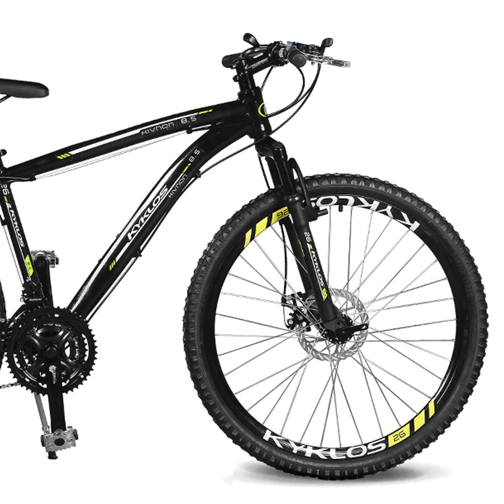 Bicicleta Kyklos Aro 26 Kivnon 8.5 Freio a Disco A-36 Preto/Verde
