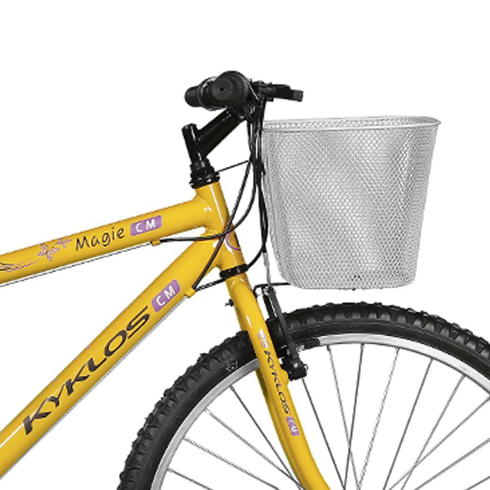 Bicicleta Kyklos Aro 26 Magie 21V Amarelo
