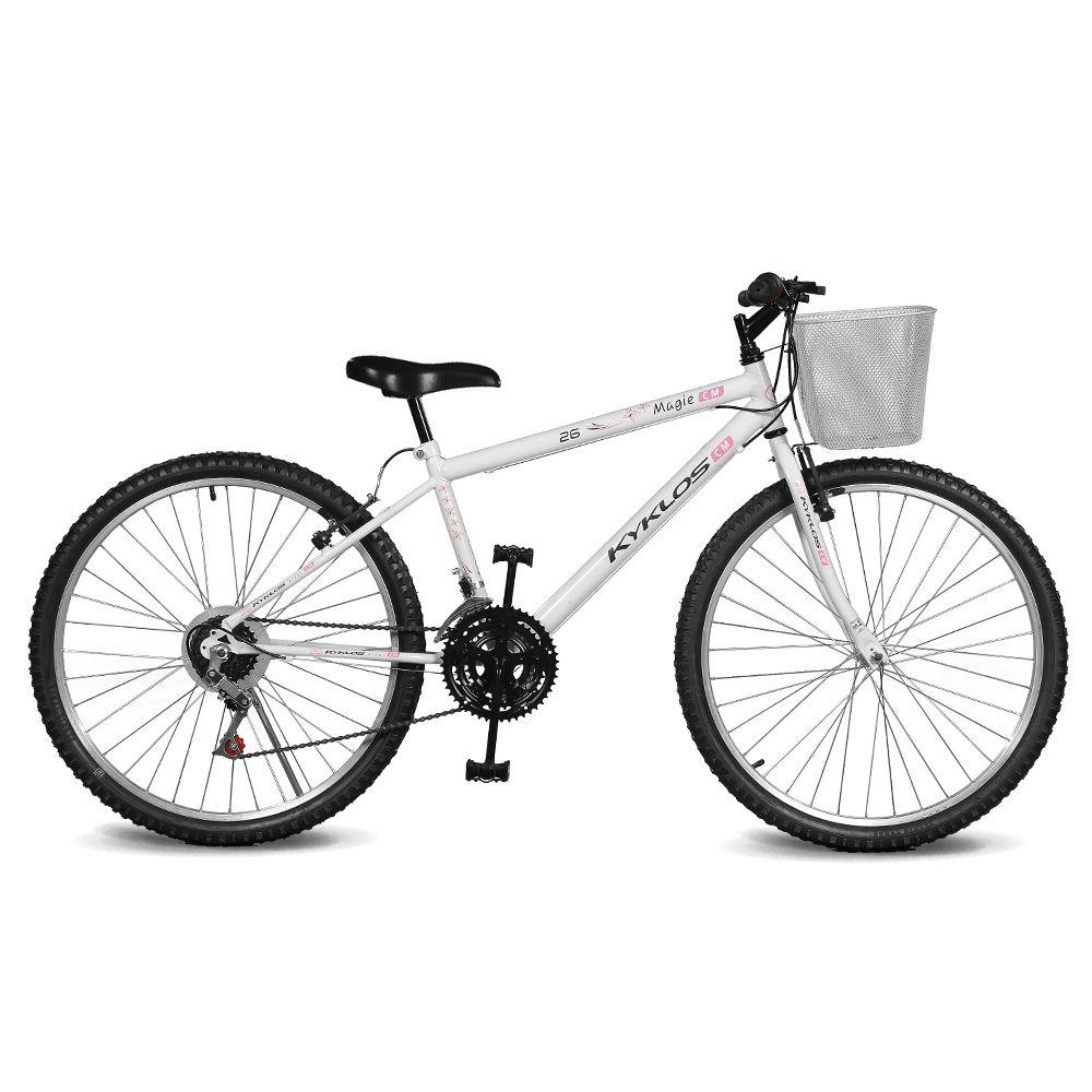 Bicicleta Kyklos Aro 26 Magie 21V Branca