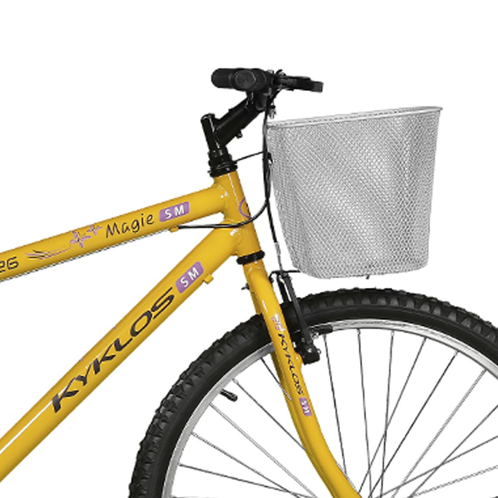 Bicicleta Kyklos Aro 26 Magie Sem Marchas Amarelo