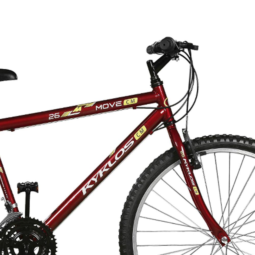 Bicicleta Kyklos Aro 26 Move 21V Vermelho