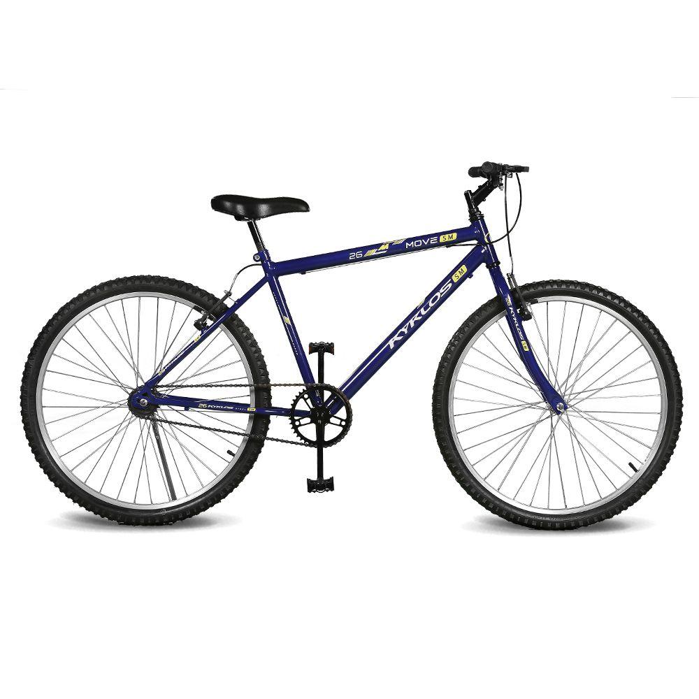 Bicicleta Kyklos Aro 26 Move Sem Marchas Azul