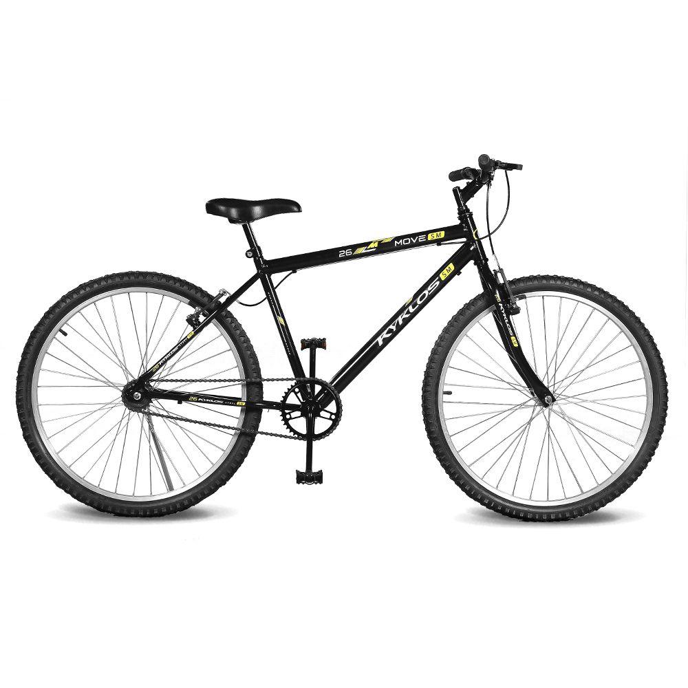 Bicicleta Kyklos Aro 26 Move Sem Marchas Preto