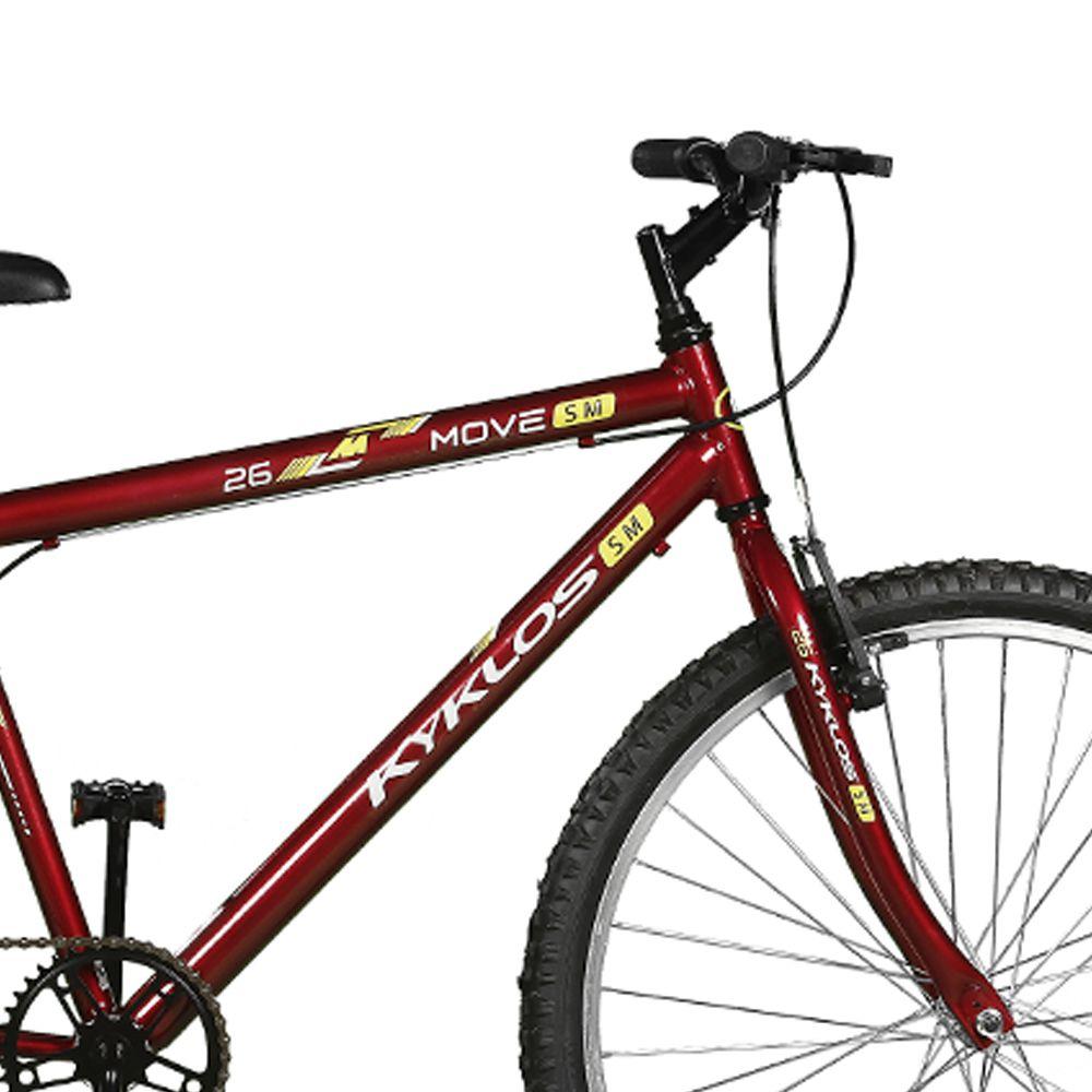 Bicicleta Kyklos Aro 26 Move Sem Marchas Vermelho