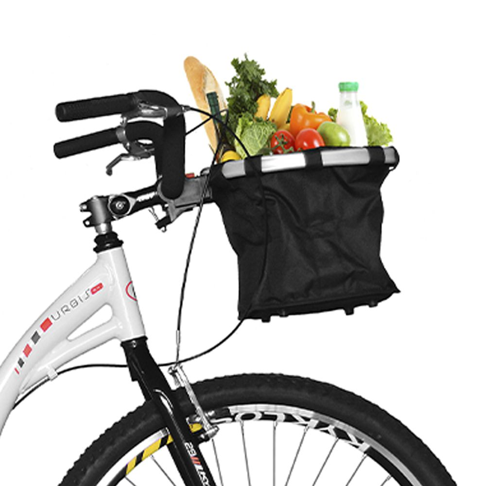 Bicicleta Kyklos Aro 29 Urbis 8.4 V-Brake sem Marcha com Cesta Branco