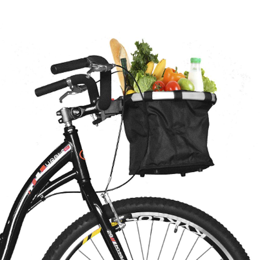 Bicicleta Kyklos Aro 29 Urbis 8.4 V-Brake sem Marcha com Cesta Preto