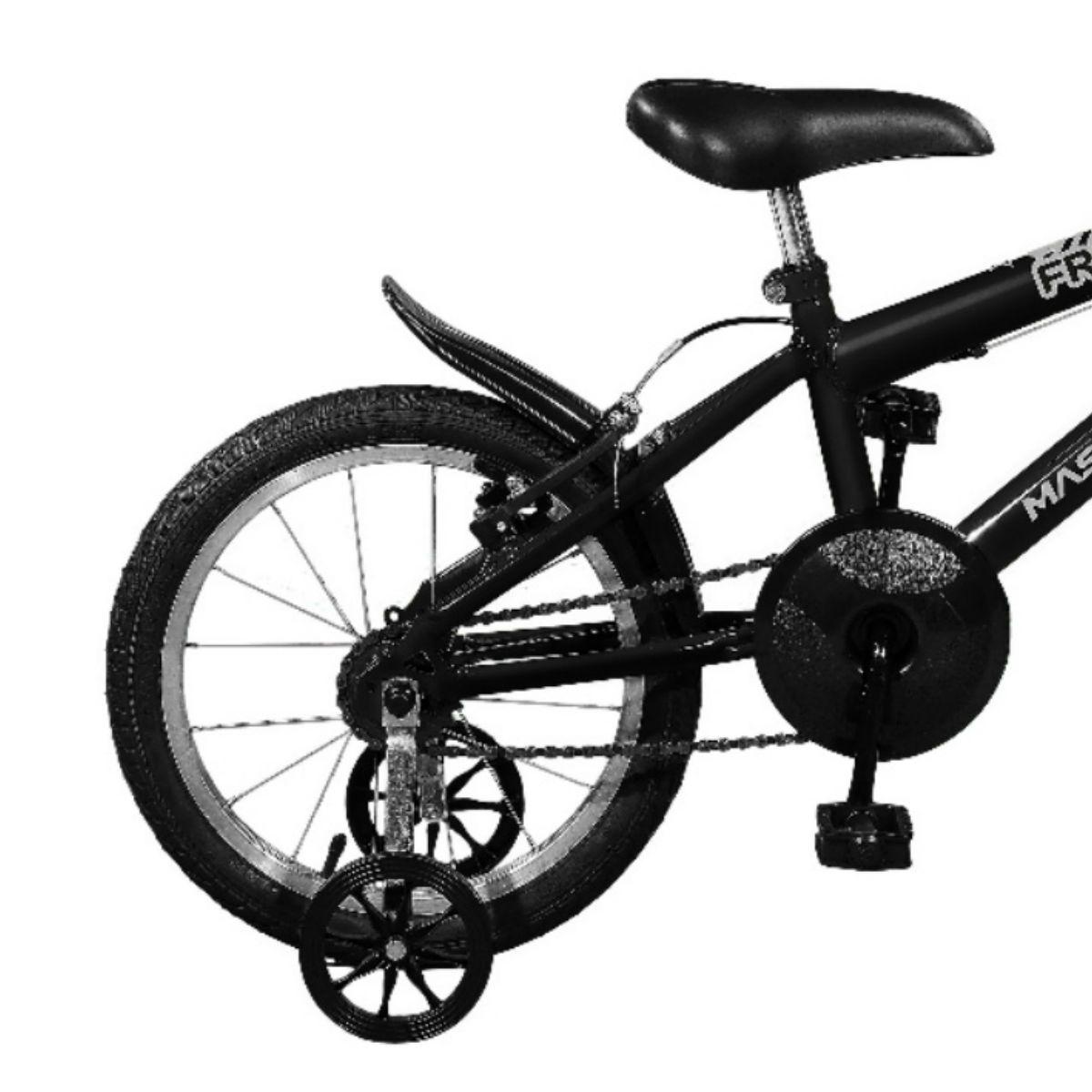 Bicicleta Master Bike Aro 16 Free Boy Freio V-Brake Preto