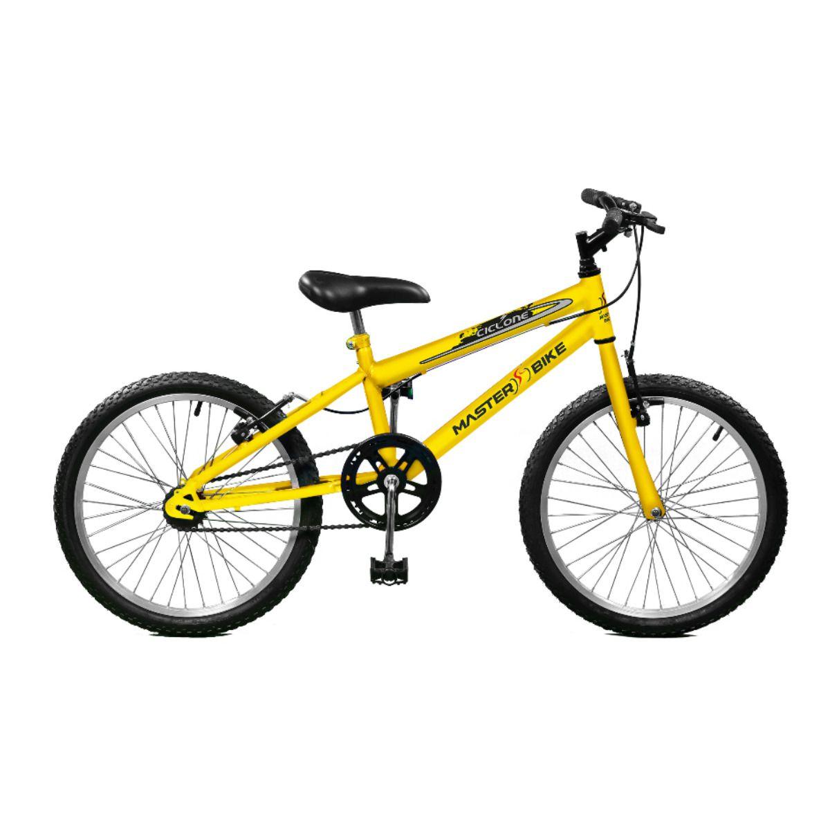 Bicicleta Master Bike Aro 20 Ciclone Freio V-Brake Amarelo