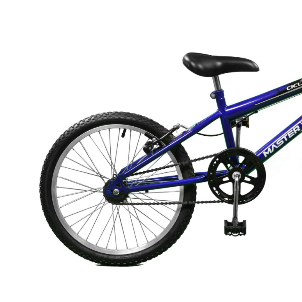 Bicicleta Master Bike Aro 20 Ciclone Freio V-Brake Azul/Preto