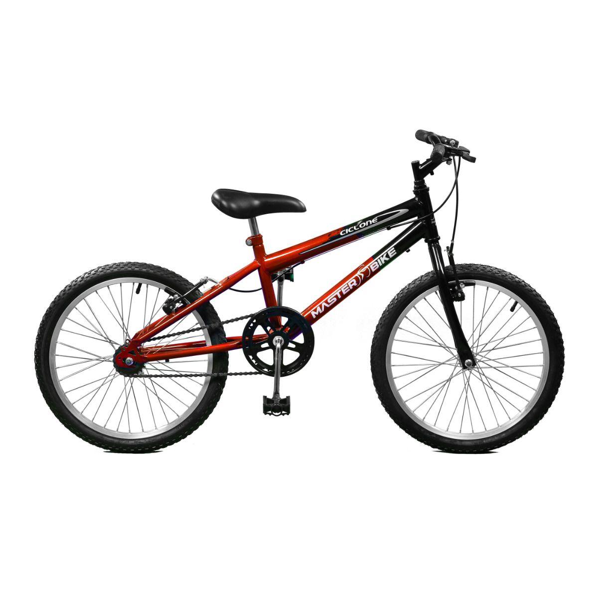 Bicicleta Master Bike Aro 20 Ciclone Freio V-Brake Vermelho/Preto