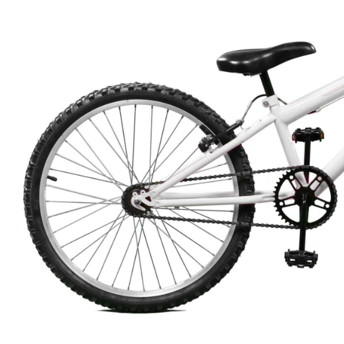 Bicicleta Master Bike Aro 24 Serena Freio V-Brake Branco
