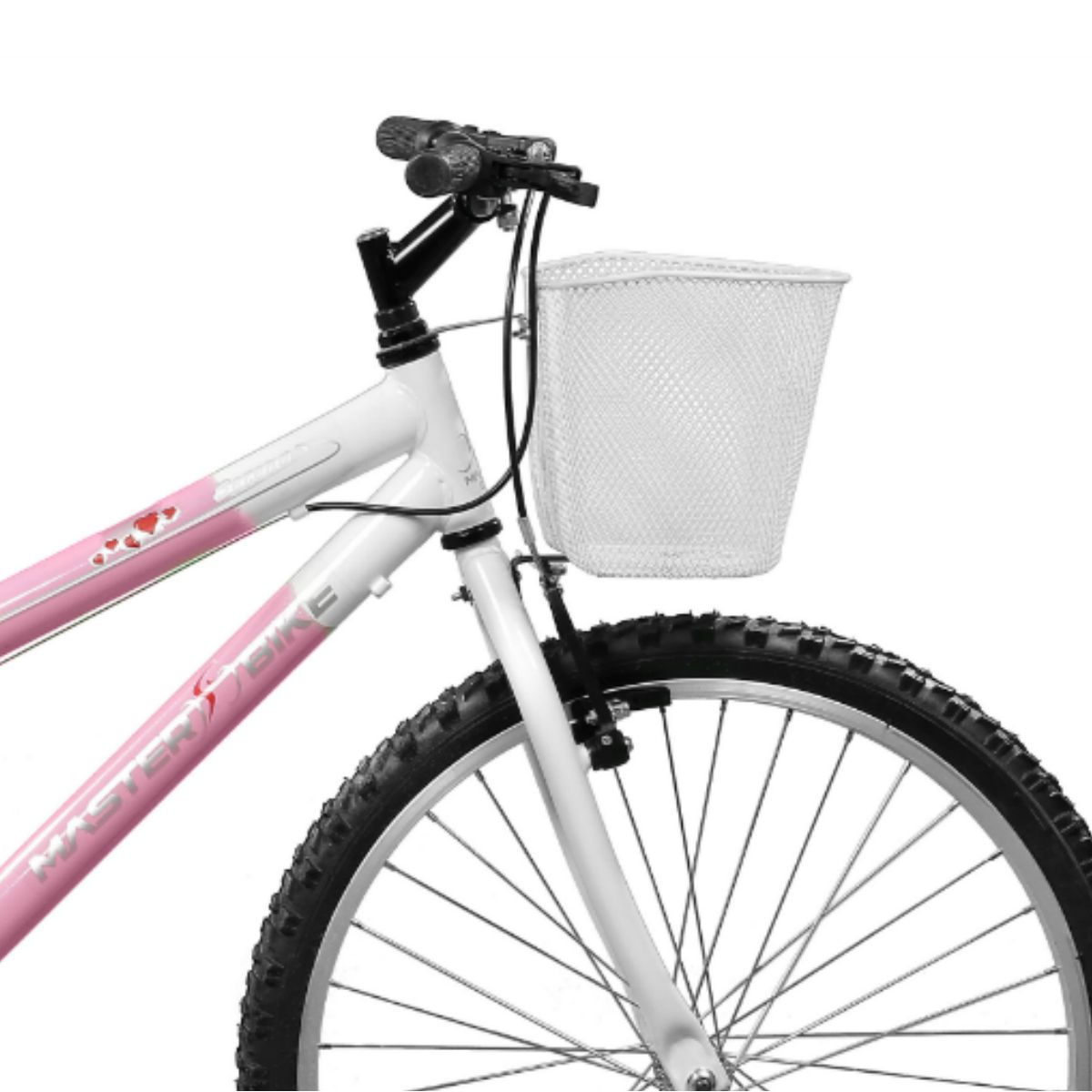 Bicicleta Master Bike Aro 24 Serena Freio V-Brake Rosa/Branco
