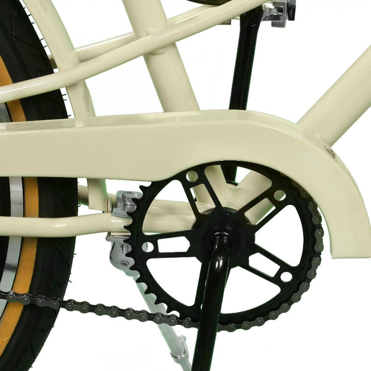 Bicicleta Master Bike Aro 26 Bella Retrô Freio V-Brake Bege