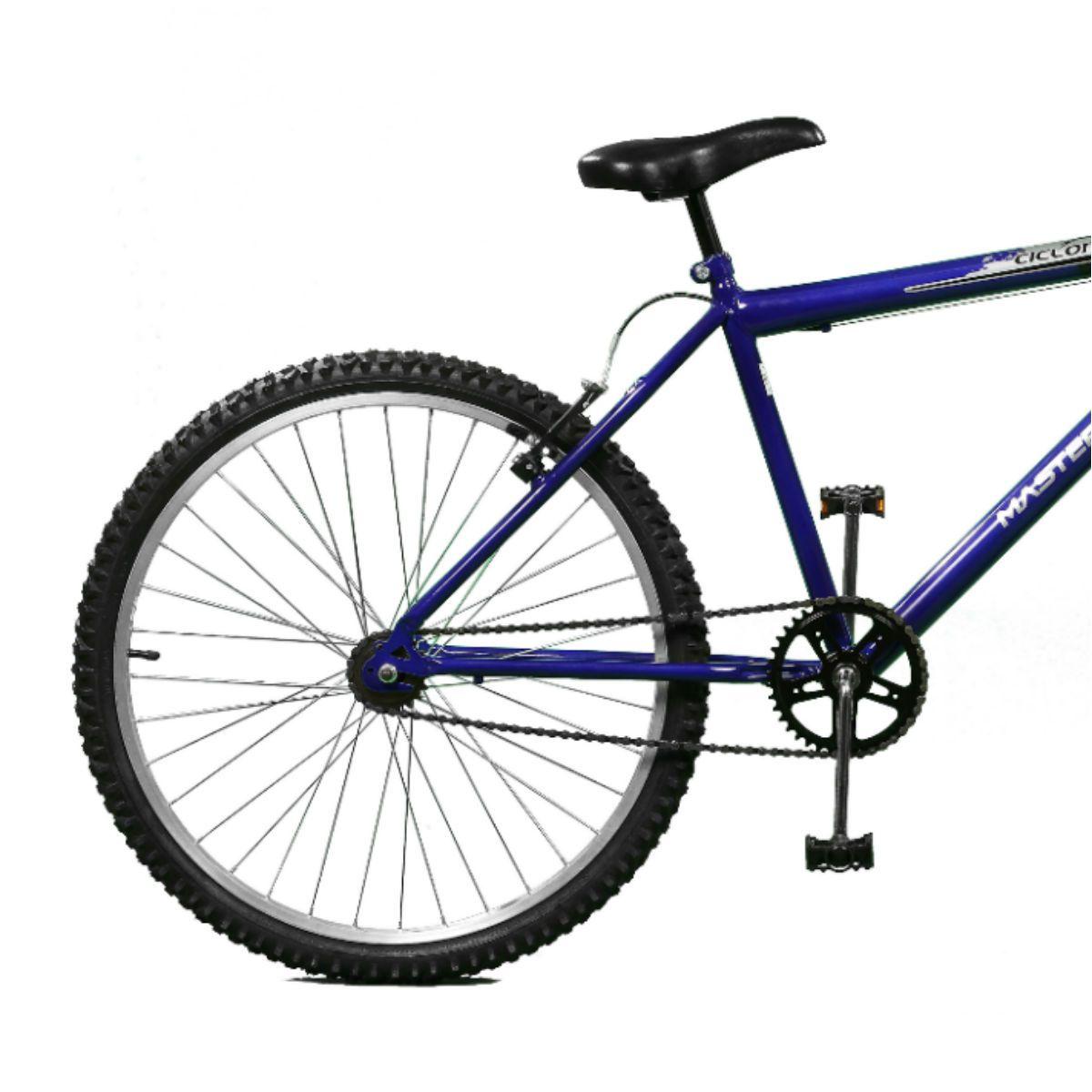 Bicicleta Master Bike Aro 26 Ciclone Freio V-Brake Azul/Preto