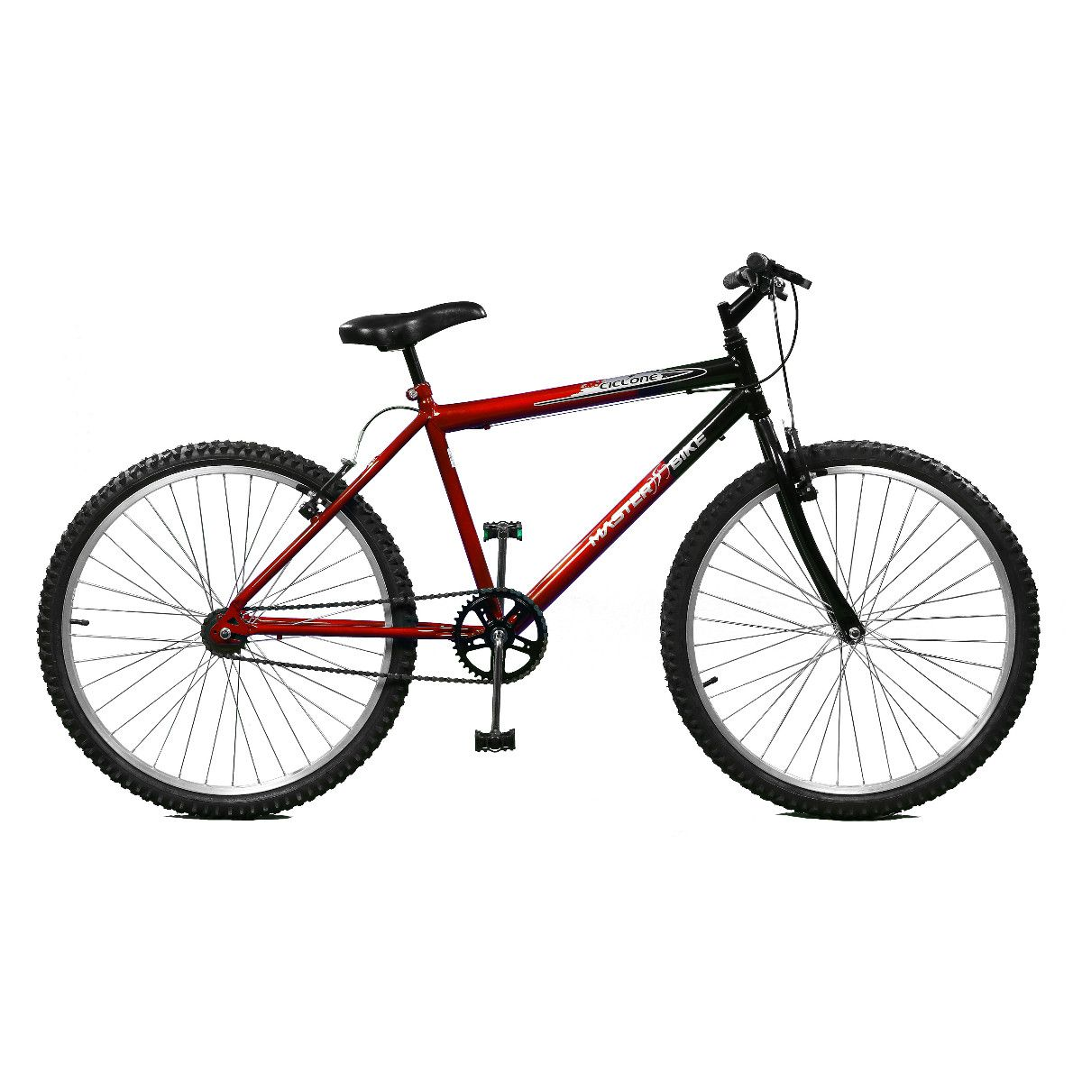 Bicicleta Master Bike Aro 26 Ciclone Freio V-Brake Vermelho/Preto