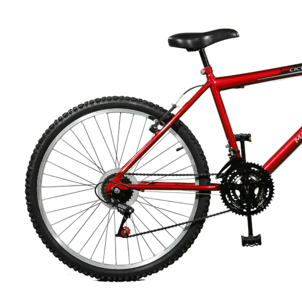 Bicicleta Master Bike Aro 26 Ciclone Plus 21 Marchas V-Brake Vermelho/Preto