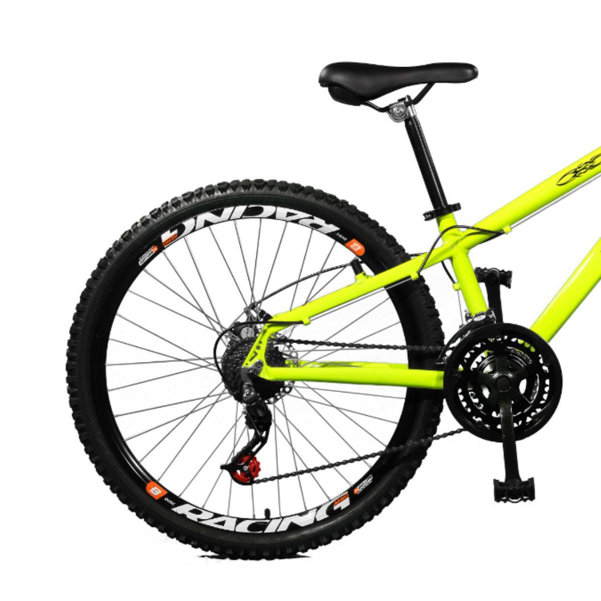 Bicicleta Master Bike Aro 26 Free Rider Freio à Disco A-36 21 V  Amarelo Neon