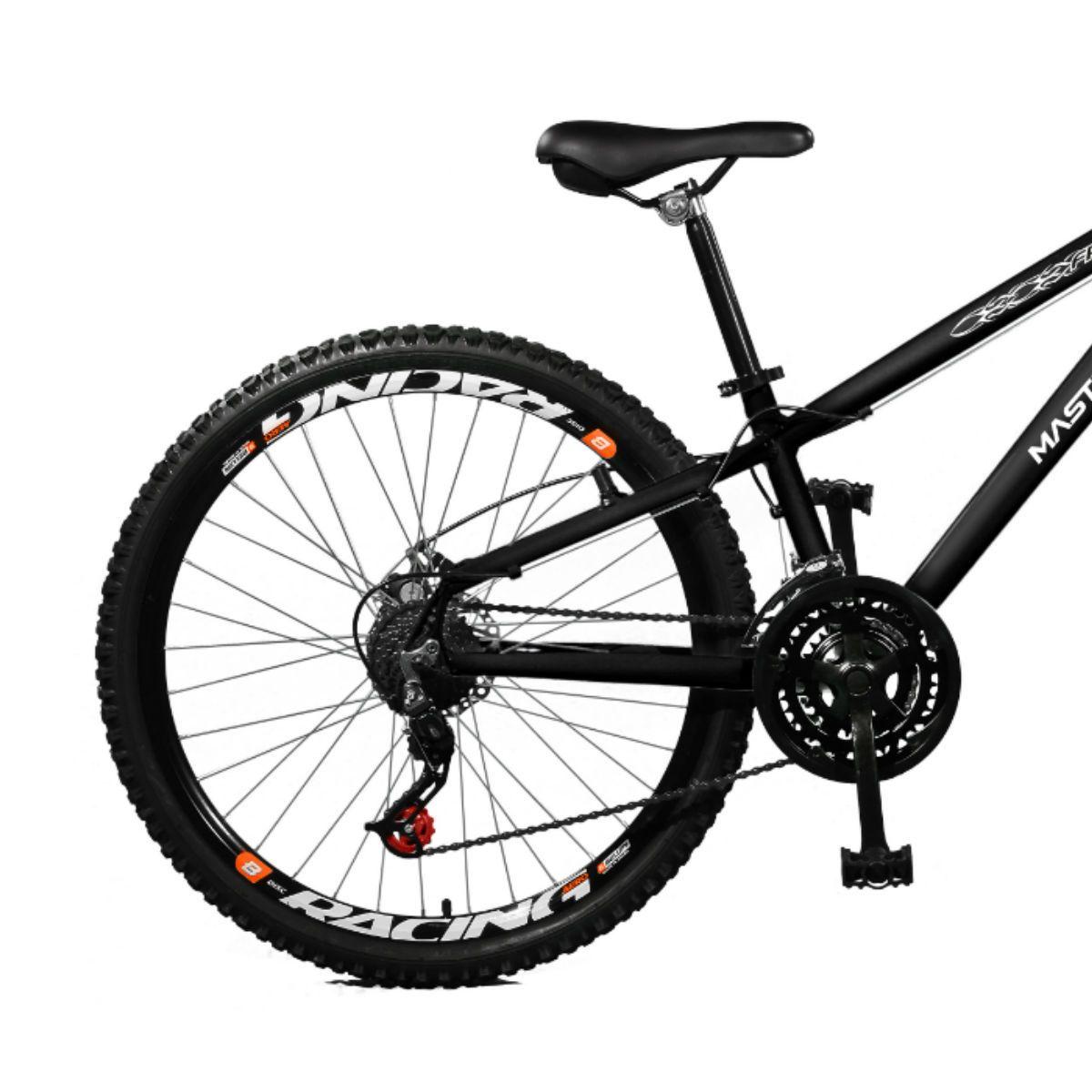Bicicleta Master Bike Aro 26 Free Rider Freio à Disco A-36 21 V Preto