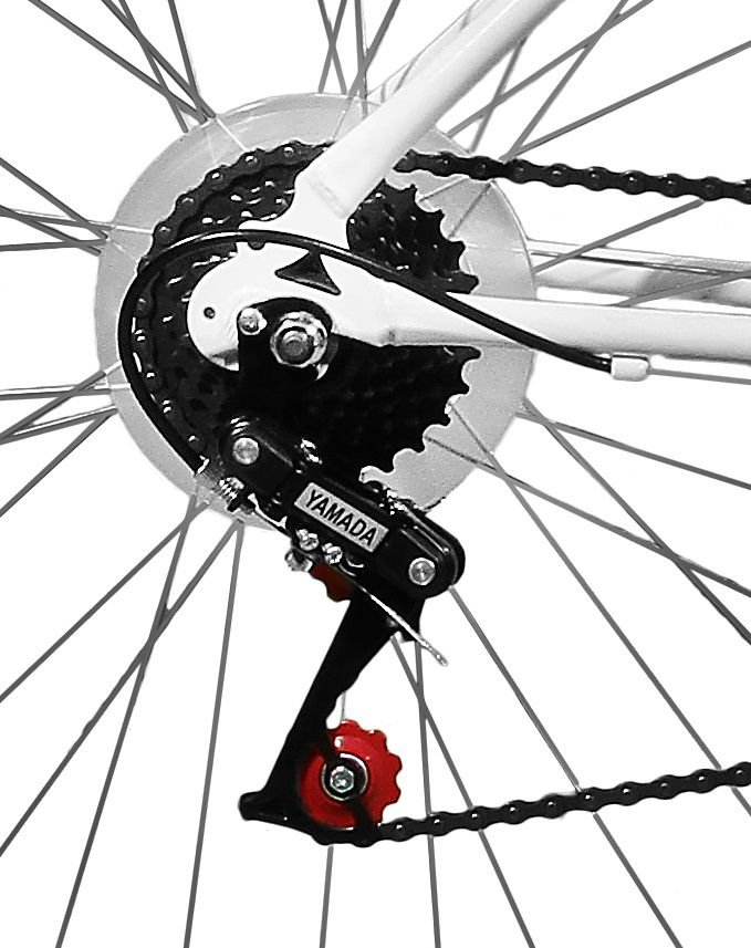 Bicicleta Master Bike Aro 26 Ipanema Plus 21 Marchas V-Brake c/ Cesta Branco