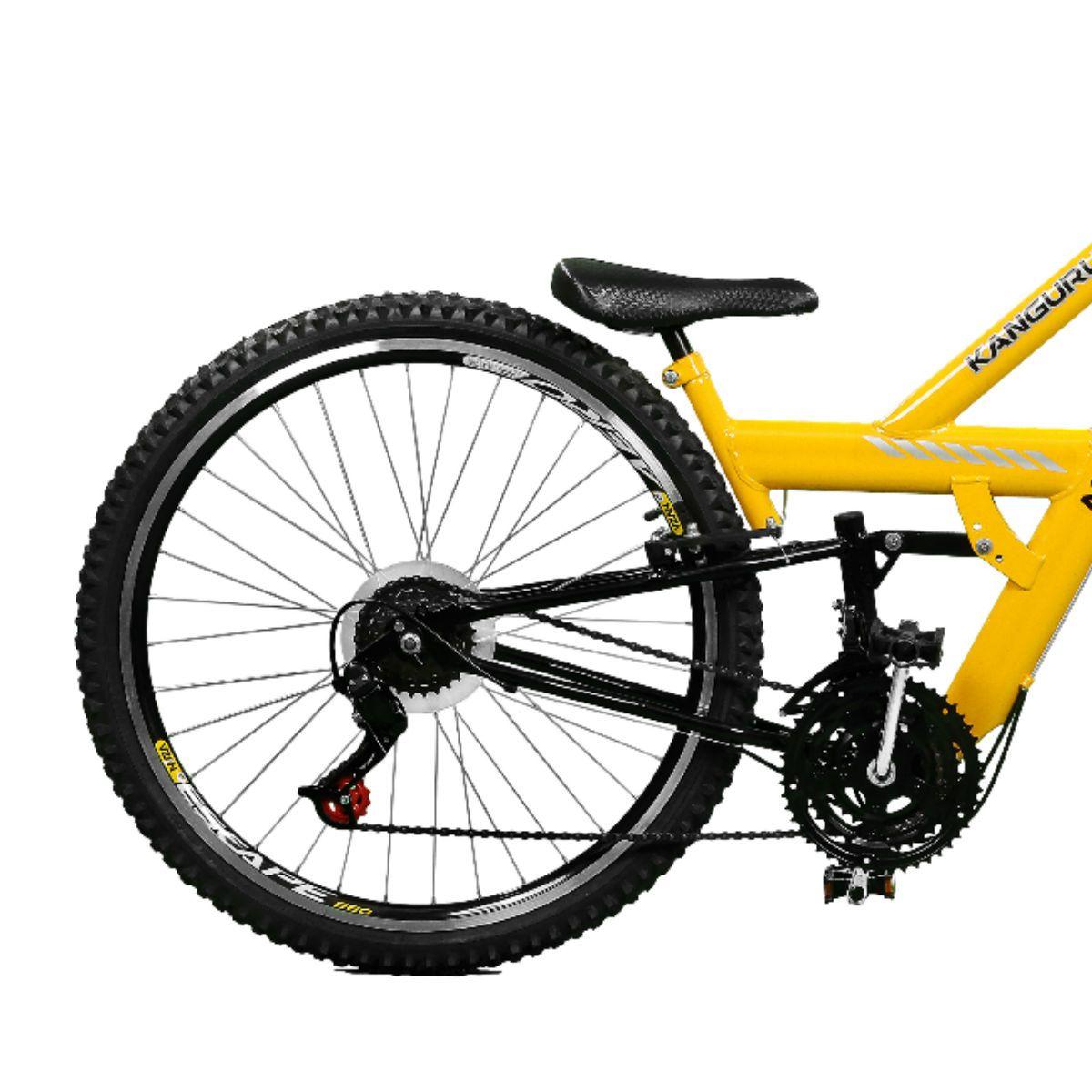 Bicicleta Master Bike Aro 26 Kanguru Rebaixada 21 V A-36 Amarelo/Preto