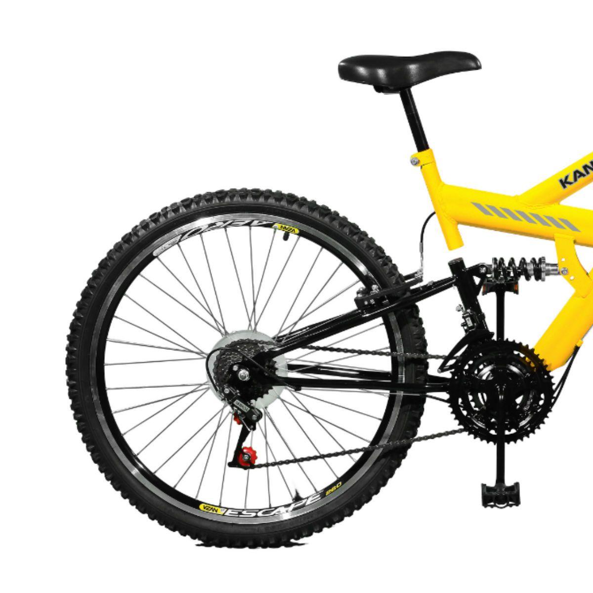 Bicicleta Master Bike Aro 26 Kanguru Style 21 Marchas A-36 V-Brake Amarelo/Preto