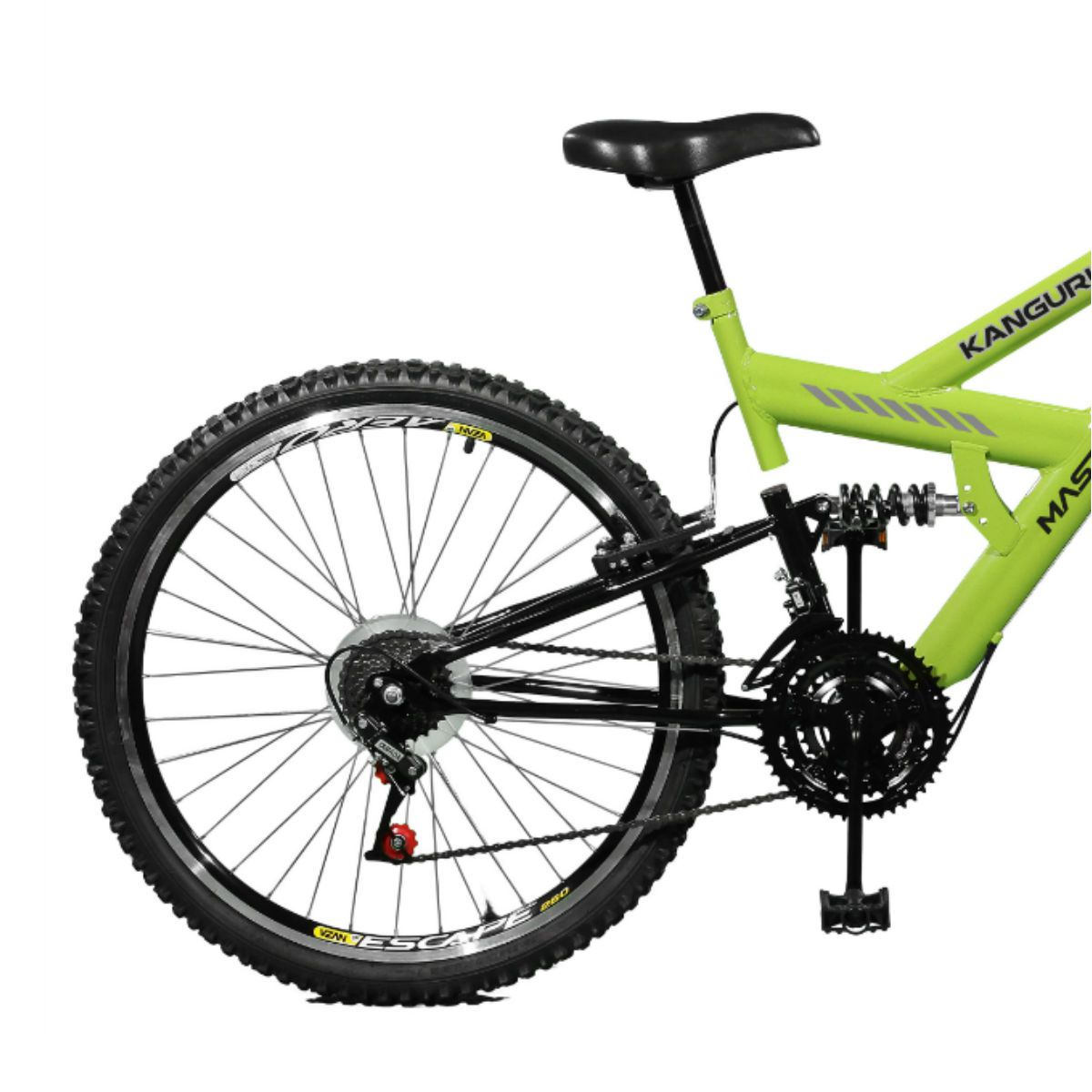 Bicicleta Master Bike Aro 26 Kanguru Style 21 Marchas A-36 V-Brake Verde/Preto