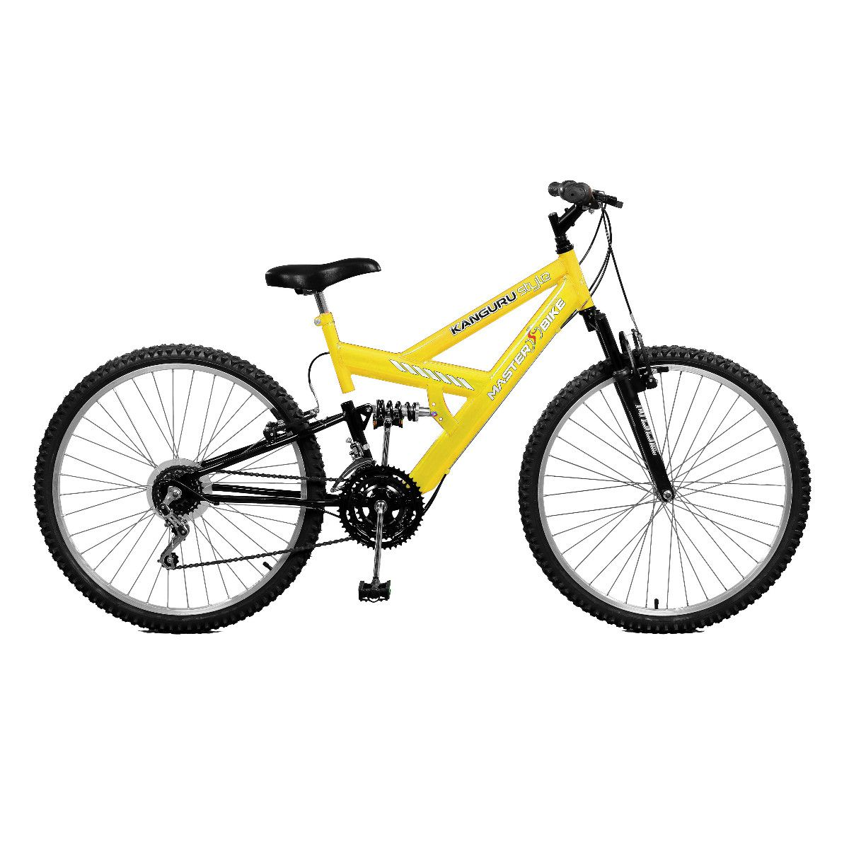 Bicicleta Master Bike Aro 26 Kanguru Style 21 Marchas V-Brake Amarelo/Preto