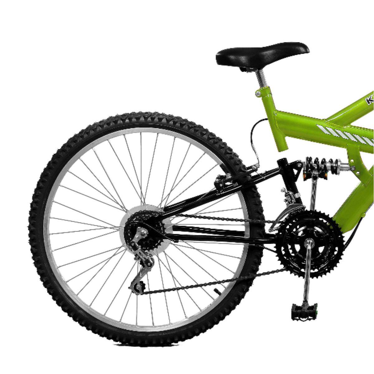 Bicicleta Master Bike Aro 26 Kanguru Style 21 Marchas V-Brake Verde/Preto