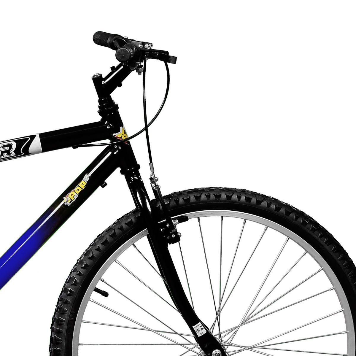 Bicicleta Master Bike Aro 26 Pop Freio V-Brake Azul/Preto