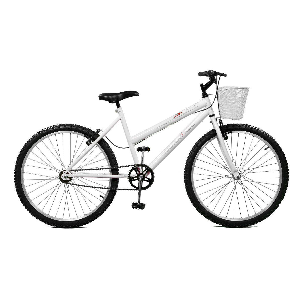 Bicicleta Master Bike Aro 26 Serena Freio V-Brake Branca